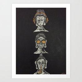 THE THREE WISE BUDDHAS Art Print