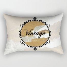 Vintage Collage Frame Rectangular Pillow