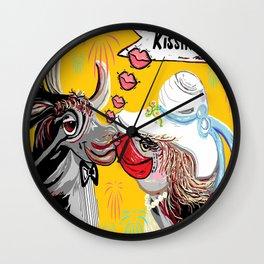 Cow Kiss Wall Clock