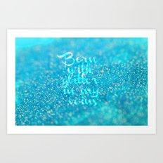 Glitter in my Veins (Photo of Glitter) Art Print
