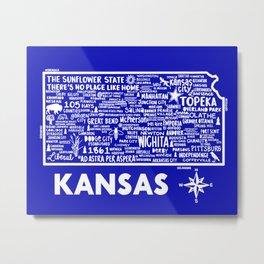 Kansas Map Metal Print