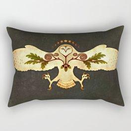Owl Talisman of Protection Rectangular Pillow