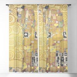 The Embrace (Fulfilment) by Gustav Klimt (1905) Sheer Curtain