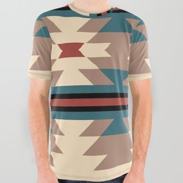 Southwestern Pattern 126 All Over Graphic Tee
