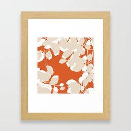 leaves rust and tan Framed Art Print