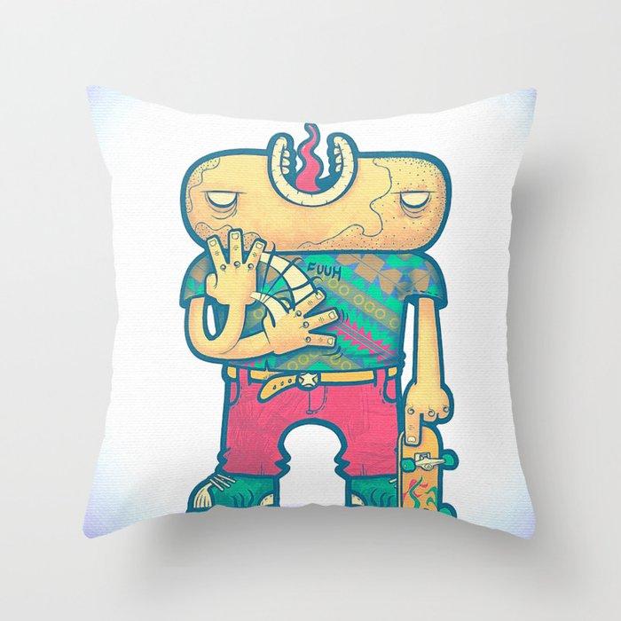 brain free Throw Pillow