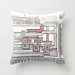 SUBTERRANEAN LONDON Throw Pillow