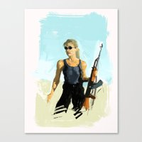 terminator Canvas Prints featuring TERMINATOR by Erased Account