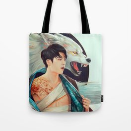 Woohyun with the Wolf Tattoo Tote Bag
