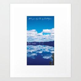 Where Your Sky Ends Art Print