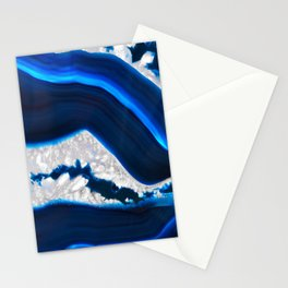 Electrical Agate Stationery Cards