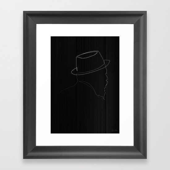One line Thelonious Monk Framed Art Print