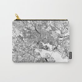 Baltimore White Map Carry-All Pouch