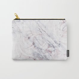 Touch of Rose White & Grey Marble Swirl Carry-All Pouch