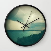 storm Wall Clocks featuring Storm by Olivia Joy StClaire