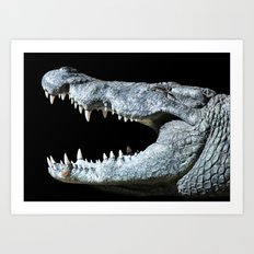 Smiling Nile Crocodile Art Print