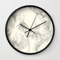 plants Wall Clocks featuring Plants by Andrew Ken Stewart