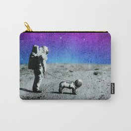 Astronaut walking his dog on the moon Carry-All Pouch