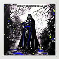 vader Canvas Prints featuring Vader by Saundra Myles