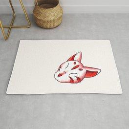 Kitsune Mask Rug