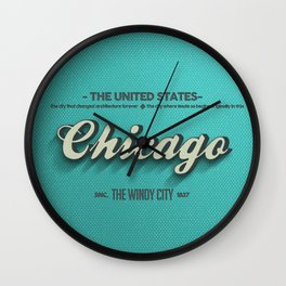 Vintage Chicago Wall Clock