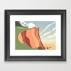 fairy landscape Framed Art Print