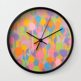 Floating In A Festival Of Candy Colored Balloons Or Swimming In A Sea Of Psychedelic Jellyfish Wall Clock