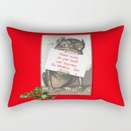 Best Christmas Wishes from the Beast Rectangular Pillow