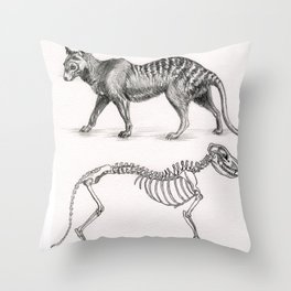 Extinction of species: Thylacinus cynocephalus Throw Pillow