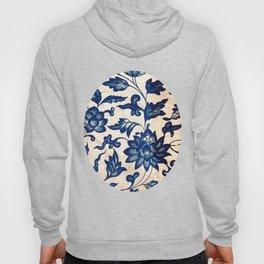 Blue Oriental Vintage Tile 06 Hoody