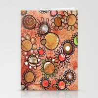brown Stationery Cards featuring brown by Kras Arts - Fly Me To The Moon