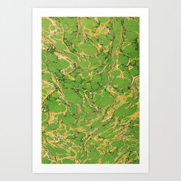 Marbled Paper – Green Art Print