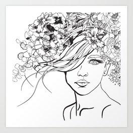 Coloring Cover Girl Art Print
