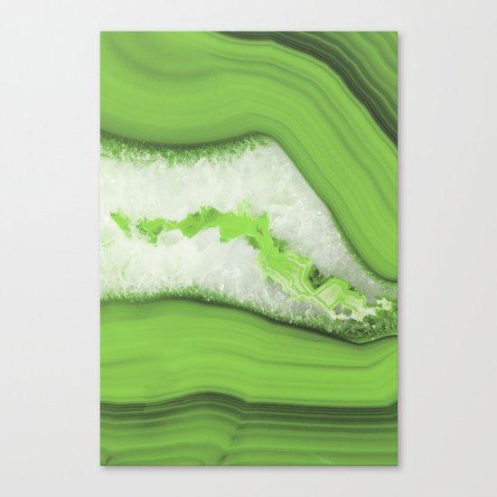 Greenery Agate Canvas Print