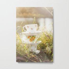 Three lonely teacups Metal Print