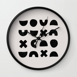 Earth Collection - Patterns Cross Square Wall Clock