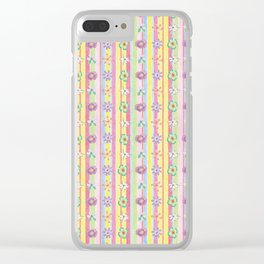 Candy Flowers 2 Clear iPhone Case