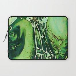 Tint Blot - Cracked Glass Green Laptop Sleeve