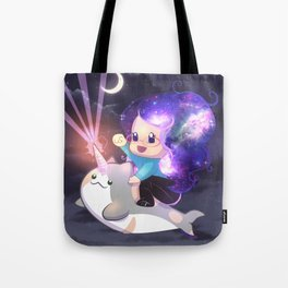 Space Narwhal Tote Bag