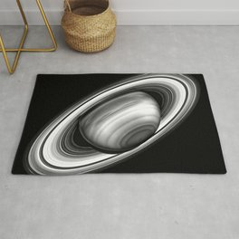 Saturn and Rings Rug
