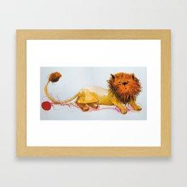 Cats_big cat Framed Art Print