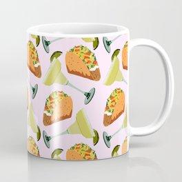 Tacos y Margaritas Pattern Coffee Mug