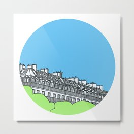 Rooftops of Paris Metal Print