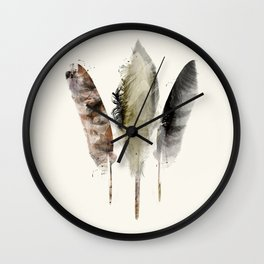 nature feathers Wall Clock