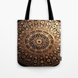 Black & Gold Mandala Tote Bag