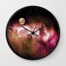 Alien vignette Wall Clock