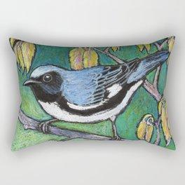Black Throated Blue Warbler Rectangular Pillow