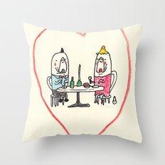 Manatee Date Throw Pillow