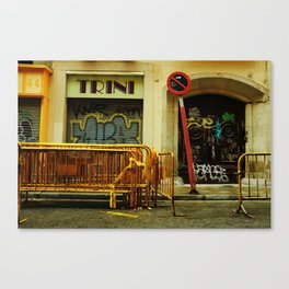 Barcelona Construction Canvas Print