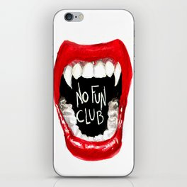 No Fun Club iPhone Skin